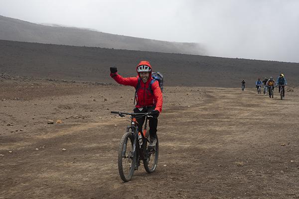 MTB at 14000'/4267m on Kilimanjaro