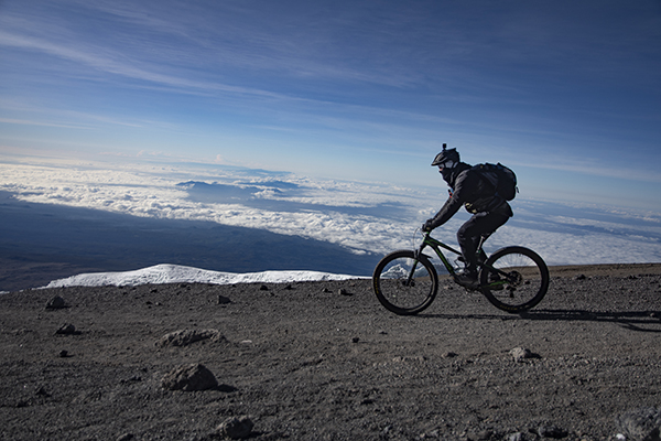 MTB high above the clouds