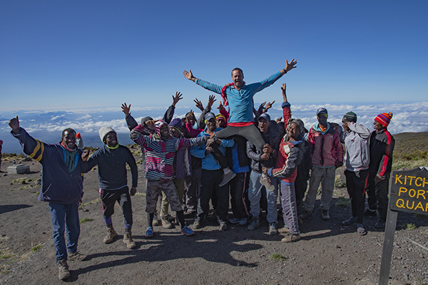 Kurt Wedberg & the staff on Kilimanjaro