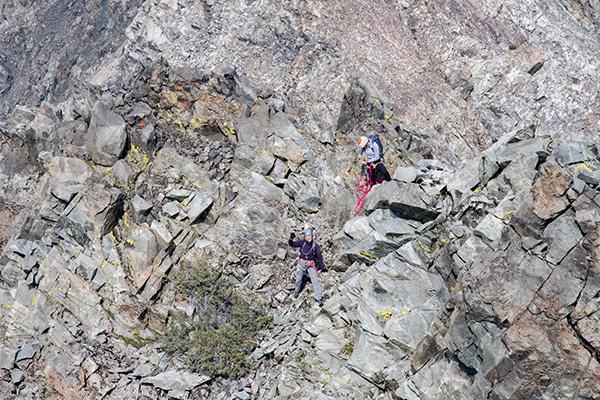 Kathy and Hjordis on the Northwest Arête