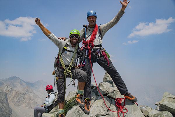 Tristan & Kurt summit Devils Crag