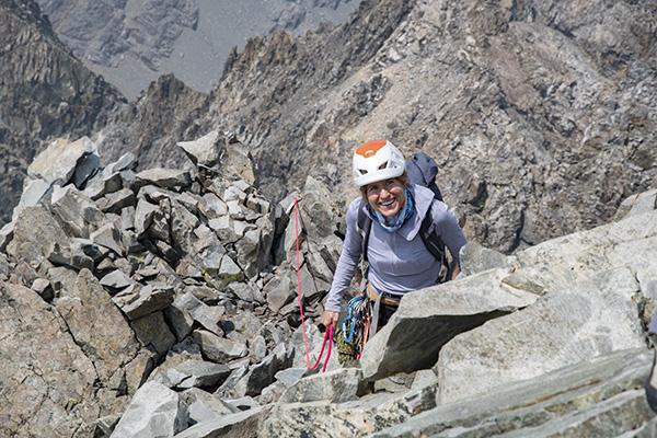 Hjordis Rickert summiting Devils Crag