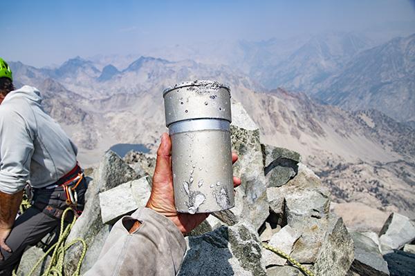 Devils Crag summit register can