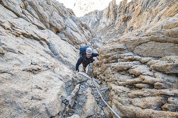 3rd class gully on Mt. Humphreys NW Ridge