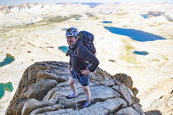 Gaining the backbone of the NW Ridge of Mt. Humphreys