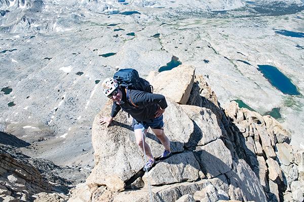 Thrilling climbing Mt. Humphreys NW Ridge