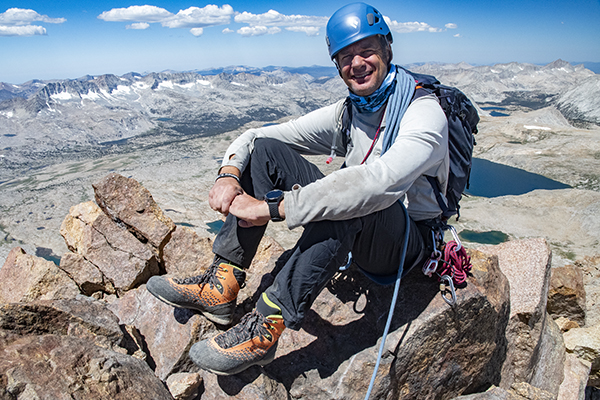 Kurt Wedberg on the summit of Mt. Humphreys